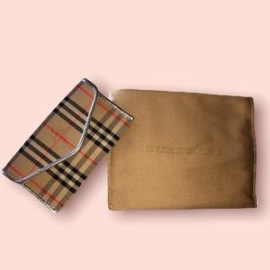 BURBERRY SILVER SMALL 1983 CHECK ENVELOPE CARD WAL
